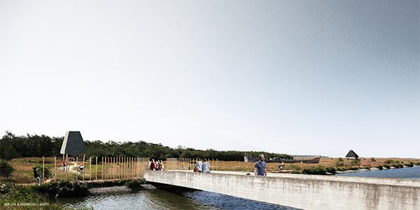 Visualisering, Hovedindgang ved Naturcenter Amager