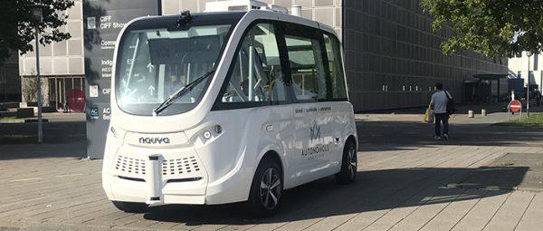 Testkørsel med førerløse busser